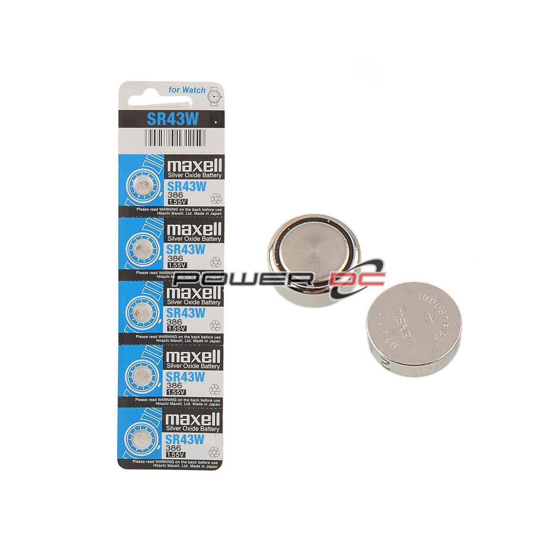 MAXELL SR43W S/OX BUTTON CELL BP5