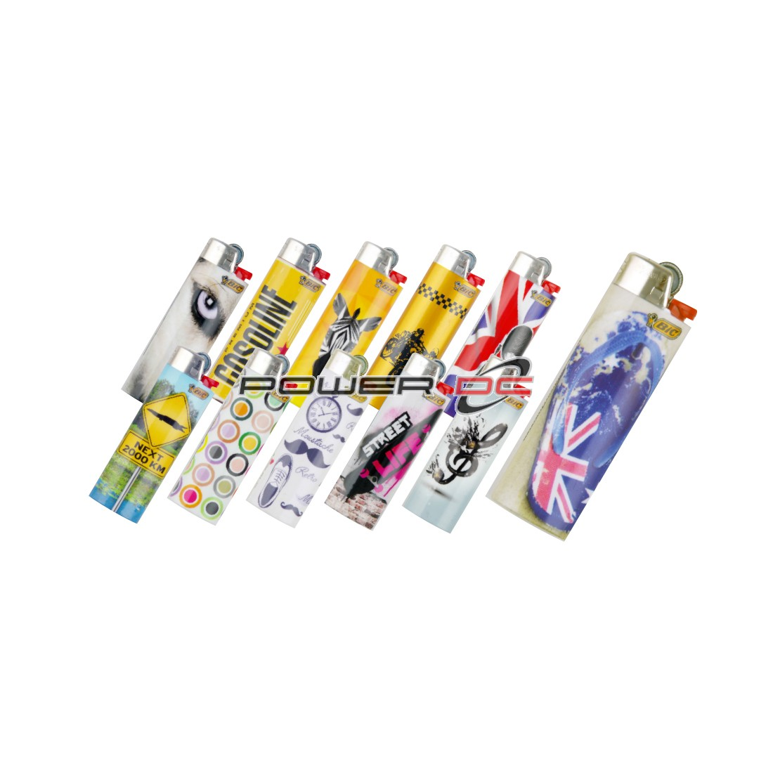 BIC MAXI LIGHTER THEME SLEEVED TRAY OF 50PCS