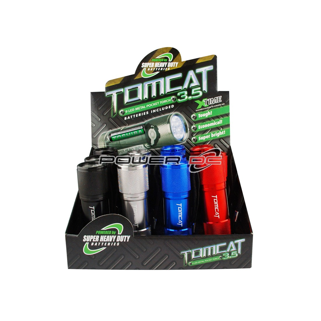 XTIME TOMCAT 3.5 9LED TORCH INC. BATT