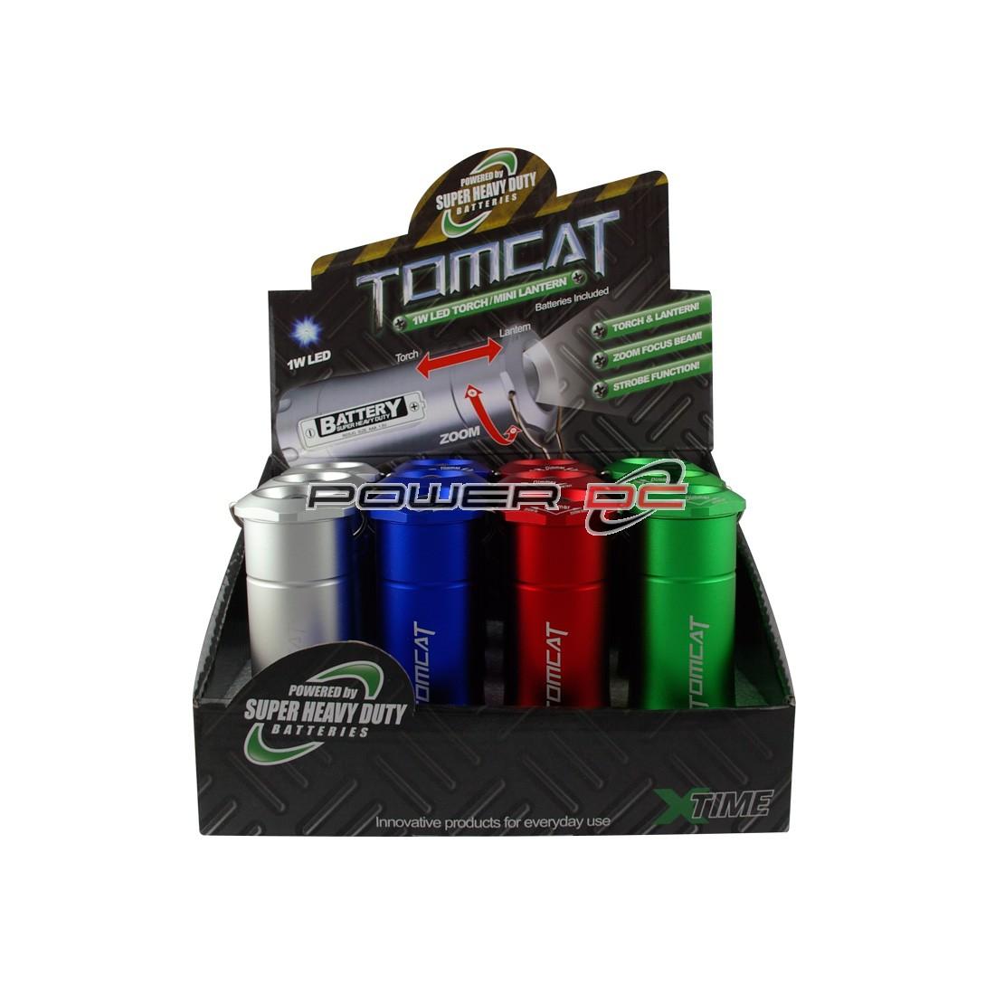 TOMCAT 1W LED TORCH/MINI LANTERN INC BATT