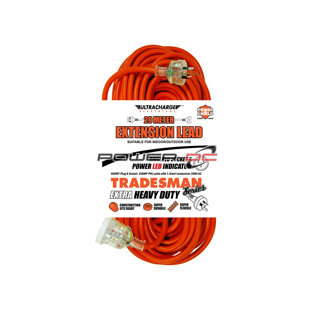 ULTRACHARGE TRADESMAN 20M HEAVY DUTY EXT LEAD